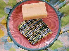 how to knit a washing scrubbie