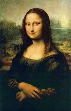 """Cuadro """"La Mona Lisa"""" de Leonardo Da Vinci la clásica obra maestra."""