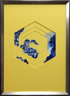 窗景山石现代中式挂画 壁饰 挂画式 复合材质 奇莱空间艺术设计