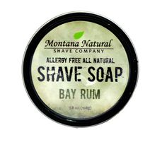 Shave soaps come packaged in a black tin. Made with all natural and organic ingredients, our shave soaps provides a healthier alternative to the often irritating, chemical and detergent based personal