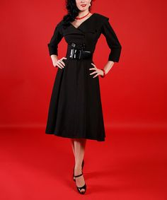 Love this Black Secretary Dress - Women & Plus by Tatyana on #zulily! #zulilyfinds