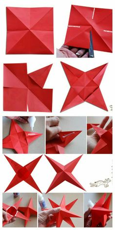 All Details You Need to Know About Home Decoration - Modern Diy Christmas Star, Christmas Tree Ornaments, Christmas Crafts, Easy Paper Flowers, Origami Flowers, Diy Snowflake Decorations, Christmas Decorations, Origami Simple, Paper Ornaments