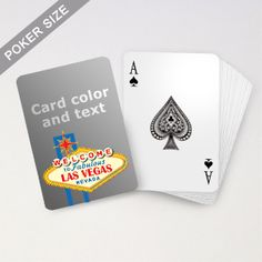 Order Personalized Playing Cards For Your Las Vegas Themed Party Or Event With Messages Printed On Card Back At Cheap Price