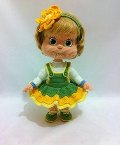 This beautiful doll was crocheted by Lyudmila Zhdanova (https://vk.com/id68665599). The doll is based on the pattern Irinka. The pattern Irinka in my shop on Etsy. #amigurumi #amigurumitoy #amigurumidoll #amigurumipattern #crochettoy #crocheting #crochet #crochetdoll #knittlife #handmade