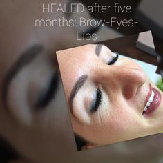 abgeheiltes permanent make up, augen brauen und lippen Brows, Healing, Lips, Brow Bar, Eyebrows, Eye Brows, Therapy, Recovery, Brow