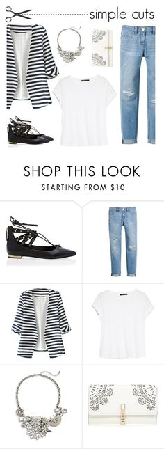 """""""Simple Cuts Blazer, White T, Jeans"""" by mk-style on Polyvore featuring White House Black Market, WithChic, MANGO, Catherine Stein and Lipsy"""