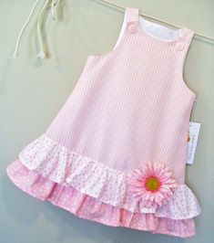 Cotton Candies Stripe Childrens Pink ALine Girls by sugarch This Pin was discovered by Ira Imagem relacionada by melody Frocks For Girls, Kids Frocks, Dresses Kids Girl, Cute Dresses, Kids Outfits, Baby Girl Frocks, Dresses Dresses, Dance Dresses, Fashion Kids