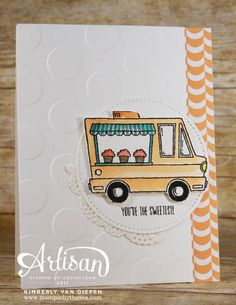 Tasty Trucks stamp set from Stampin' Up! Sale-a-Bration.  Click to download FREE tutorial creating 4 cards using this set.