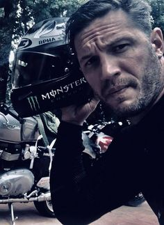 """""""tom hardy out for an easy Sunday ride on the Thruxton R. Most Beautiful Man, Gorgeous Men, Tom Hardy Baby, Top Hollywood Movies, Biker Chick, Man Photo, Good Looking Men, Perfect Man, Man Crush"""