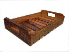 bandeja em madeira de demolição