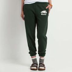 Original Slim Sweatpant | Roots Womens Sweatpants - park green