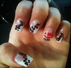 valentines finger paint
