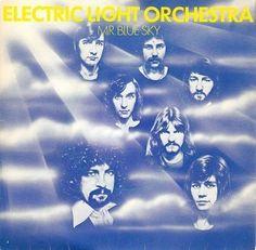 ELECTRIC LIGHT ORCHESTRA (ELO) Mr. Blue Sky 7 Inch Jet UP 36342 1977 Blue Vinyl