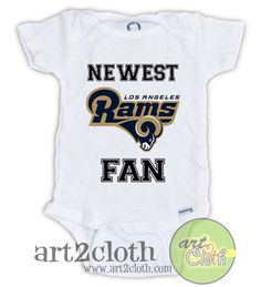 660d48b3f17 Los Angeles RAMS Newest FAN Baby Onesie