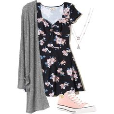 A fashion look from March 2017 featuring Hollister Co. dresses and Converse sneakers. Browse and shop related looks.