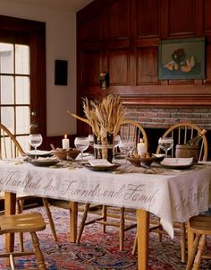 Thanksgiving tablecloth idea