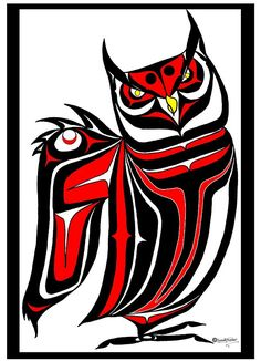 Choose your favorite owl drawings from millions of available designs. All owl drawings ship within 48 hours and include a money-back guarantee. Native American Symbols, Native American Design, Native Design, American Indian Art, Arte Haida, Haida Art, Haida Tattoo, Tattoo Art, Mexico Art