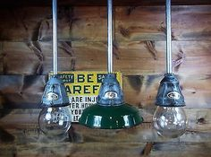 3 Vintage Benjamin Explosion Proof Industrial Pendant Light Gas Station Barn 7
