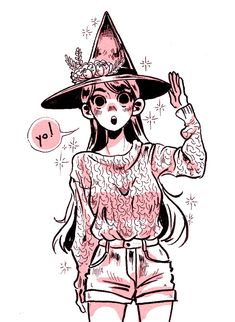 Inktober Art inspiration and artwork drawing Inktober, Under Your Spell, Drawn Art, Mini Comic, Witch Art, Character Design Inspiration, Cute Drawings, Cute Art, Art Tutorials
