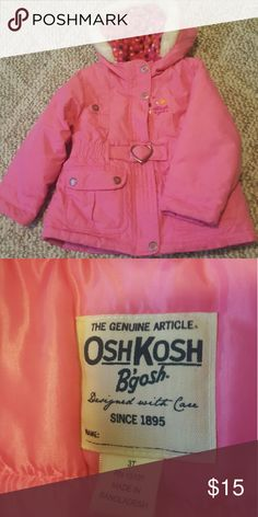 Winter Jacket Super cute Jacket with zip and snap closure. Osh Kosh Jackets & Coats