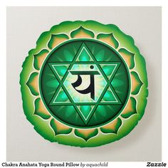 Shop Chakra Anahata Yoga Round Pillow created by aquachild.