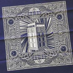 Another bandana design for @olanrogerssupply #drwho #olanrogers #illustration #design #pattern #ornament #pedrooyarbide