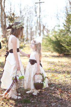 Rustic Wedding Flower Girls