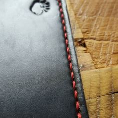 That scarlet thread looks pretty sharp on that black chromexcel.---- Website link is in bio. We're also on Etsy and Handmade at Amazon.  #BuffaloLeatherGoods #Handmade #Handcrafted #MadeInTheUSA #Leather #Etsy #LeatherGoods #LeatherWork #LeatherCraft #LeatherMakers #Wallet #Purse #DoppKit #Bracelet #ToteBag #Colorado #Denver #Moleskine #Minimalist #Outdoors #Traveler #Horween  #TravelGoods #Notebook #FieldNotes #Travel #EverydayCarry #EDC #MaineThreadCompany by buffaloleathergoods #tailrs
