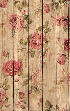 Roses Decoupaged On Wood