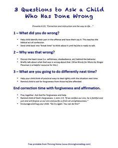 3 Fragen, die du deinem Kind stellen kannst, wenn es etwas falsch gemacht hat.