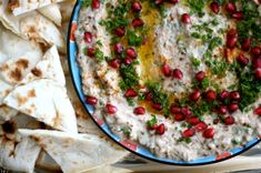 There's a cafeteria-type restaurant that I frequent because it has the best mutabbal (similar to baba ghanoush) ever. It's a Toronto-based Middle Eastern chain and I love it. My husba… Tahini Dip, Tahini Recipe, Middle East Food, Middle Eastern Recipes, Pickled Eggplant, Sauces, Middle Eastern Restaurant, Full Fat Yogurt, Lebanese Recipes