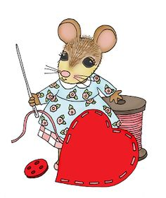 Free Dearie Dolls Digi Stamps: Sew Mousie