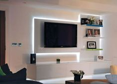 tv unit with lights - Google Search