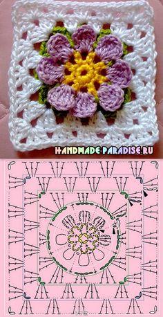 Crochet granny square ❤️LCS-MRS❤️ surf diagram---  Схемы мотивов крючком для вязания пледов