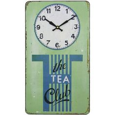 Anyone for tea? Vintage style clock.