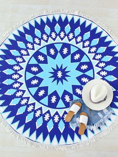 Buy it now. Blue Geometric Print Fringe Round Beach Blanket. Blue Cover Ups & Beach Dresses Vacation Polyester Print Swimwear. , vestidoinformal, casual, camiseta, playeros, informales, túnica, estilocamiseta, camisola, vestidodealgodón, vestidosdealgodón, verano, informal, playa, playero, capa, capas, vestidobabydoll, camisole, túnica, shift, pleat, pleated, drape, t-shape, daisy, foldedshoulder, summer, loosefit, tunictop, swing, day, offtheshoulder, smock, print, printed, tea, babydoll...