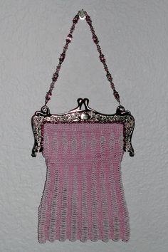 Vintage Beaded Knit Purse Pattern The Fan-Tan 1920s Flapper   Etsy Crochet Snood, Crochet Elephant Pattern, Cast Off, 1920s Flapper, Creative Skills, Purse Patterns, Garter Stitch, Vintage Crochet, Crochet Designs