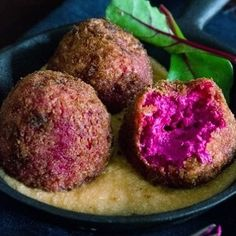 Beetroot goat cheese croquette source : heneedsfood #fancyfood #latestfoodtrend #foodtrend #foodreviews #catania #healthyfood #supertrendy #trendyfood #foodideas #hungry #tasty #yummy #yum #foodie #foody #foodism #foodisfuel #foodiswow #saraskitchen #foodwelove #tasty #yummy #vegetarian #vegetarianfood #veganrecipes #vegan #veggies #veggierecipe #veggieballs