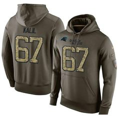 NFL Jerseys SALES 2017 NFL Men's Nike Carolina Panthers #67 Ryan Kalil Stitched Green Olive Salute To Service KO Performance Hoodie Muhammad Wilkerson jersey Bengals John Ross 15 jersey