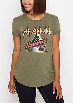 3deacf5bad264 Def Leppard Hysteria Tee Graphic Tee Shirts