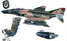 USAF F-4C Phantom Ejection Seat and Engine Package