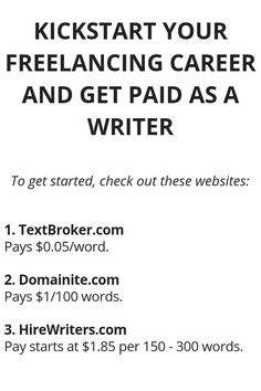 Kickstart Your Freelancing Career And Get Paid As A Writer - Wisdom Lives Here Ways To Earn Money, Earn Money From Home, Money Tips, Way To Make Money, Legit Work From Home, Work From Home Jobs, Writing Jobs, Writing Prompts, Curriculum Vitae