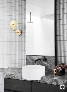 Honouring Albert Park's renowned period aesthetic Mim Design, in collaboration with architect Alfred de Bruyne, has married the past with the present to transform an existing two-bedroom property. The now highly functional contemporary five-bedroom home s Contemporary Bathrooms, Modern Bathroom Design, Bathroom Interior Design, Contemporary Interior, Interior Decorating, Contemporary Apartment, Kitchen Contemporary, Contemporary Garden, Modern Contemporary