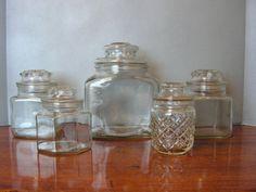 Vintage Glass Jar cannister apothecary jar