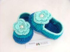 Buciki robione na szydełku - krainabucikow - Buciki na szydełku  Crochet baby booties