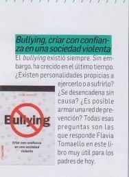 """La revista """"Positiva"""" de Argentina recomienda """"Bullying, criar con confianza en una sociedad violenta"""", ed Albatros."""