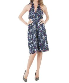 Take a look at this Tommy Hilfiger: Navy Anchor Halterneck Dress by Tommy Hilfiger on #zulily today!