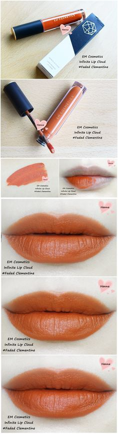EM Cosmetics Infinite Lip Cloud in 'faded clementine'