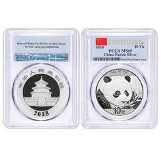 Lot of 2 - 2018 30 gram Chinese Silver Panda 10 Yuan PCGS MS 69 First Strike