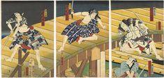 Kabuki Scene from Kokoga Edo Koude no Tatehiki by Yoshiiku / 慈江戸小腕達引 芳幾